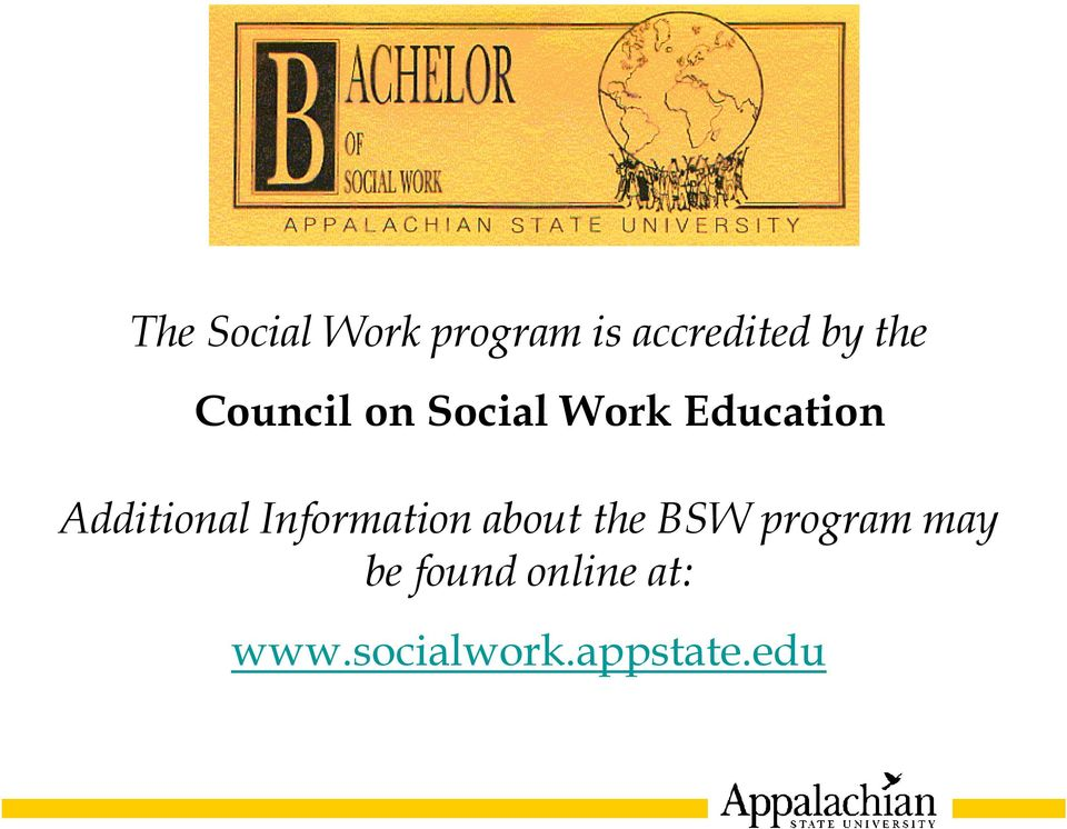 Additional Information about the BSW