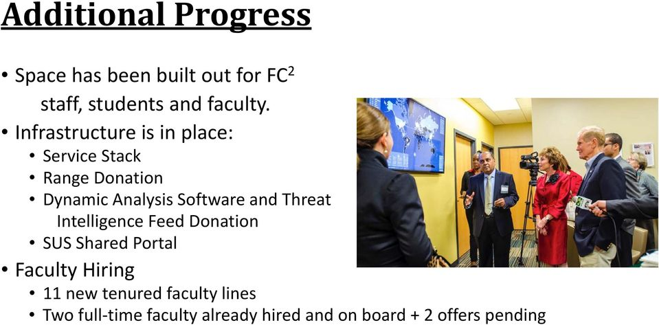 and Threat Intelligence Feed Donation SUS Shared Portal Faculty Hiring 11 new