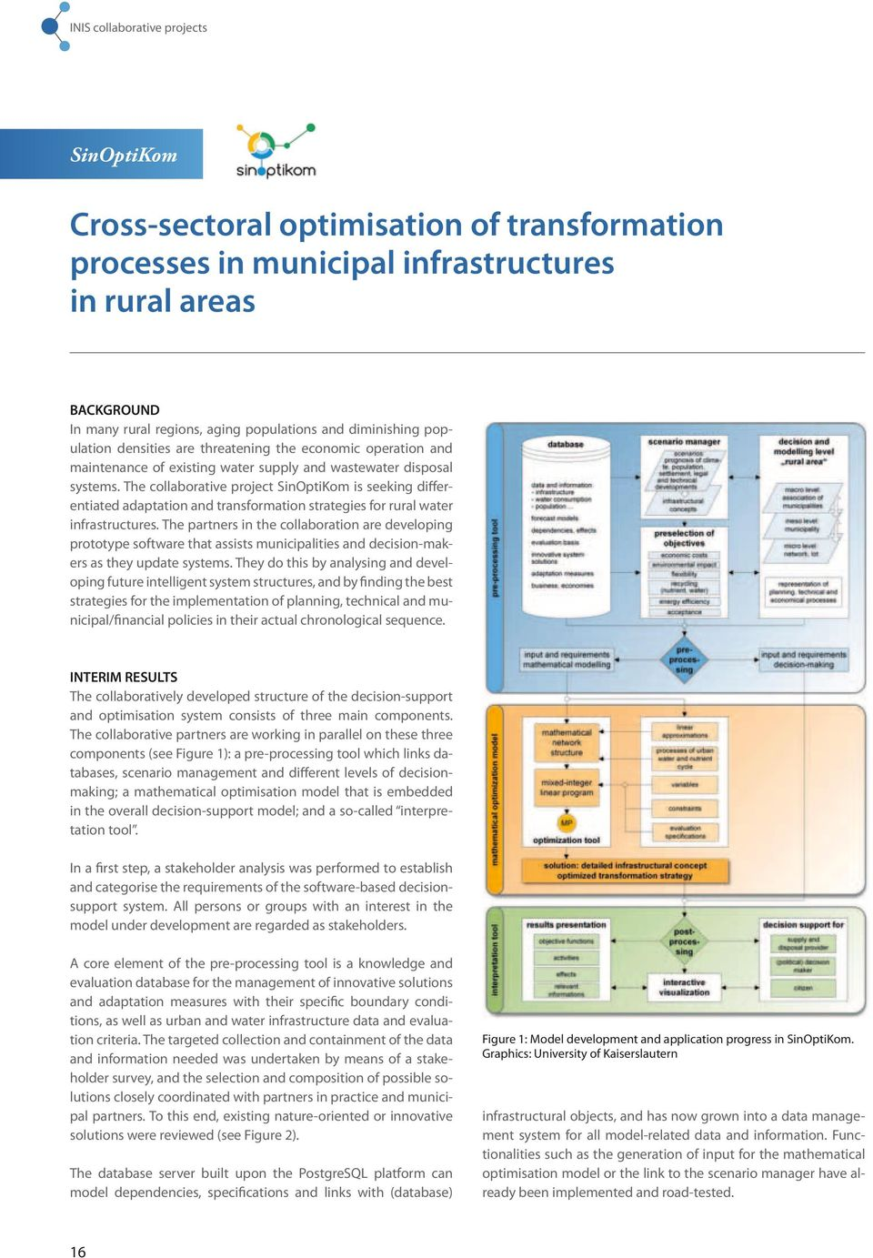 The collaborative project SinOptiKom is seeking differentiated adaptation and transformation strategies for rural water infrastructures.
