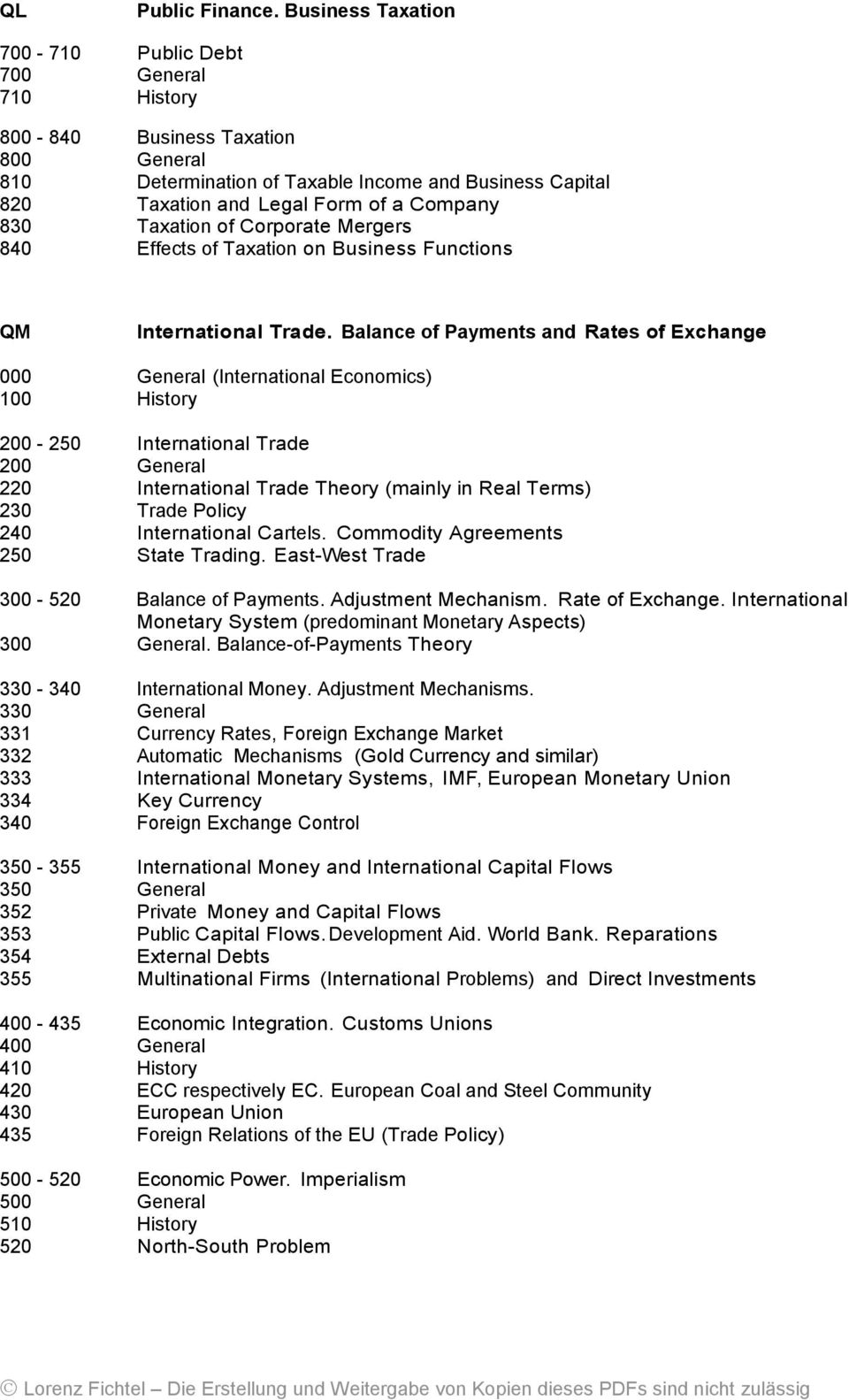 830 Taxation of Corporate Mergers 840 Effects of Taxation on Business Functions QM International Trade.
