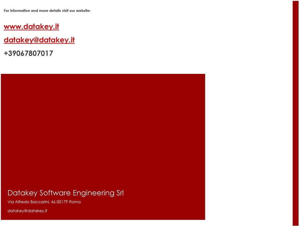 it +39067807017 Datakey Software Engineering