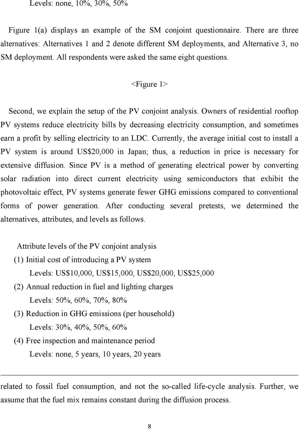 <Figure 1> Second, we explain the setup of the PV conjoint analysis.