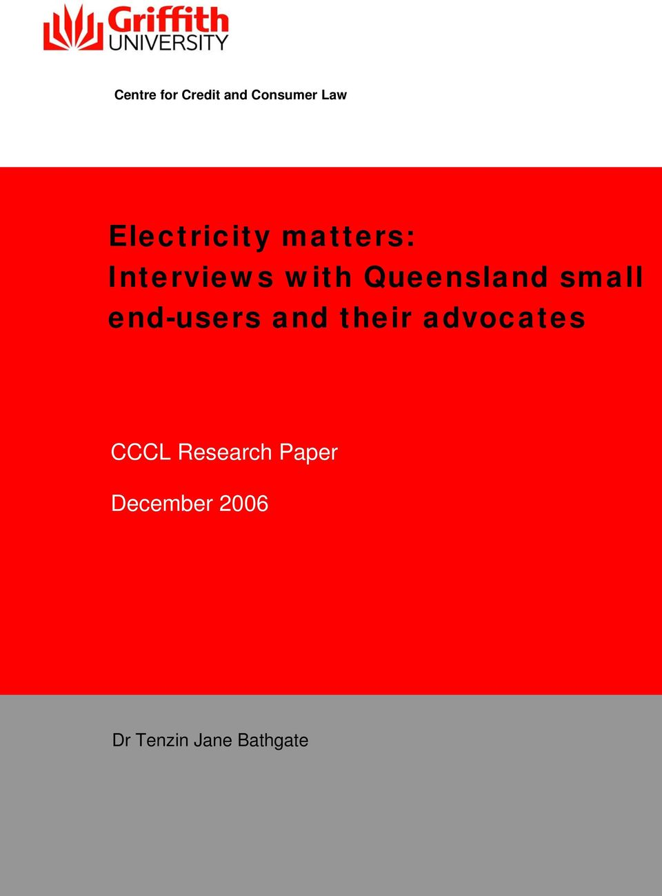 Queensland small end-users and their