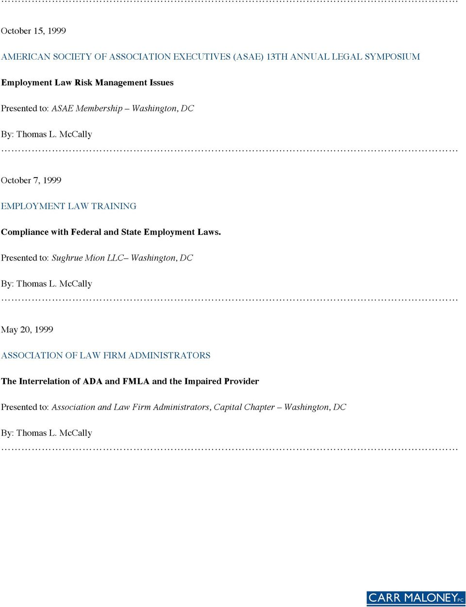 Employment Laws.