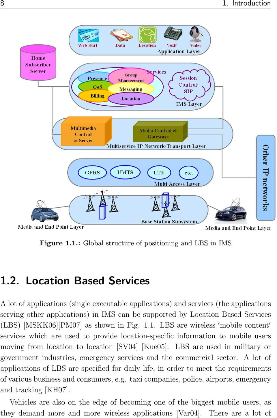 [MSKK06][PM07] as shown in Fig. 1.1. LBS are wireless mobile content services which are used to provide location-specific information to mobile users moving from location to location [SV04] [Kue05].