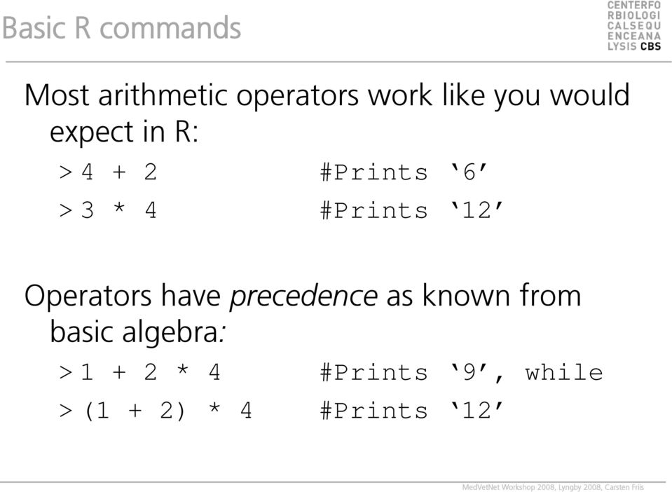 #Prints 12 Operators have precedence as known from