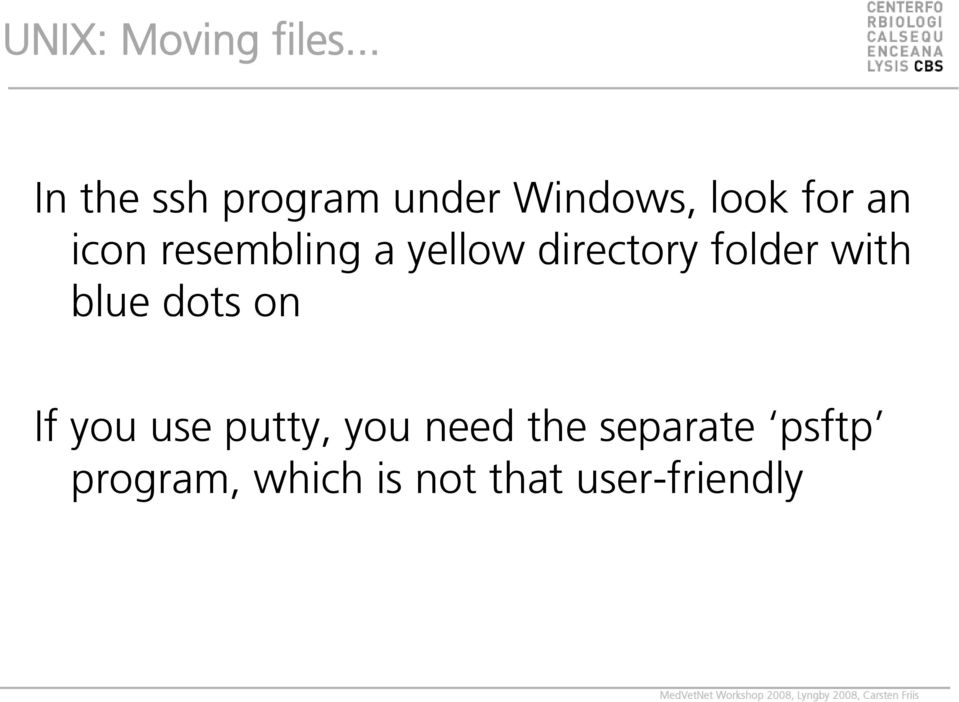 resembling a yellow directory folder with blue dots