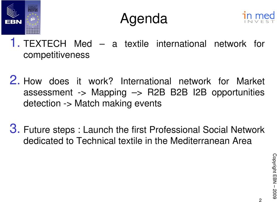 International network for Market assessment -> Mapping > R2B B2B I2B opportunities