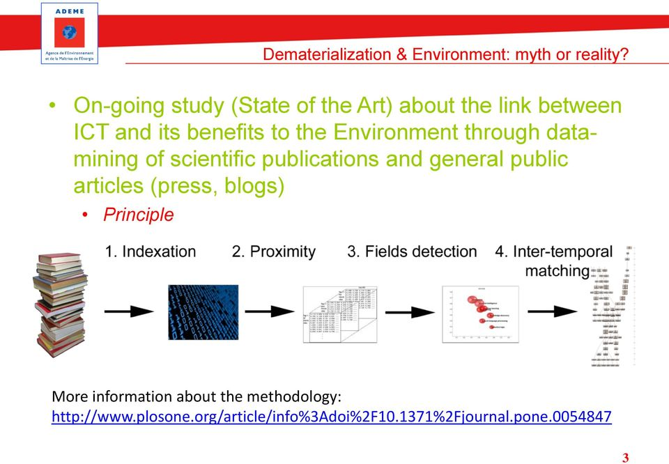 Environment through datamining of scientific publications and general public articles