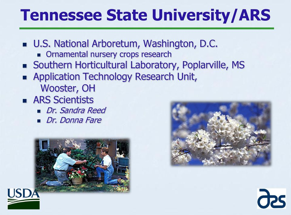 Laboratory, Poplarville, MS Application Technology Research