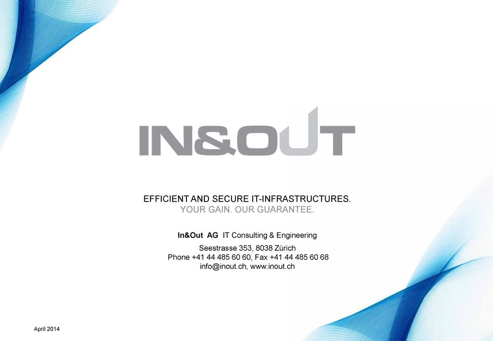 In&Out AG IT Consulting & Engineering Seestrasse