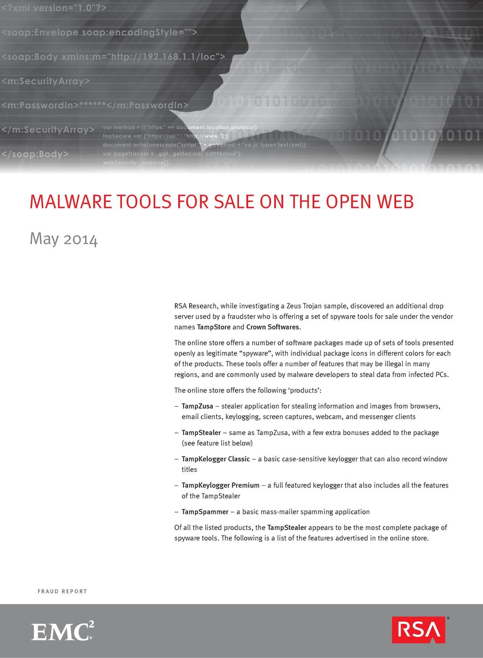 The online store offers a number of software packages made up of sets of tools presented openly as legitimate spyware, with individual package icons in different colors for each of the products.