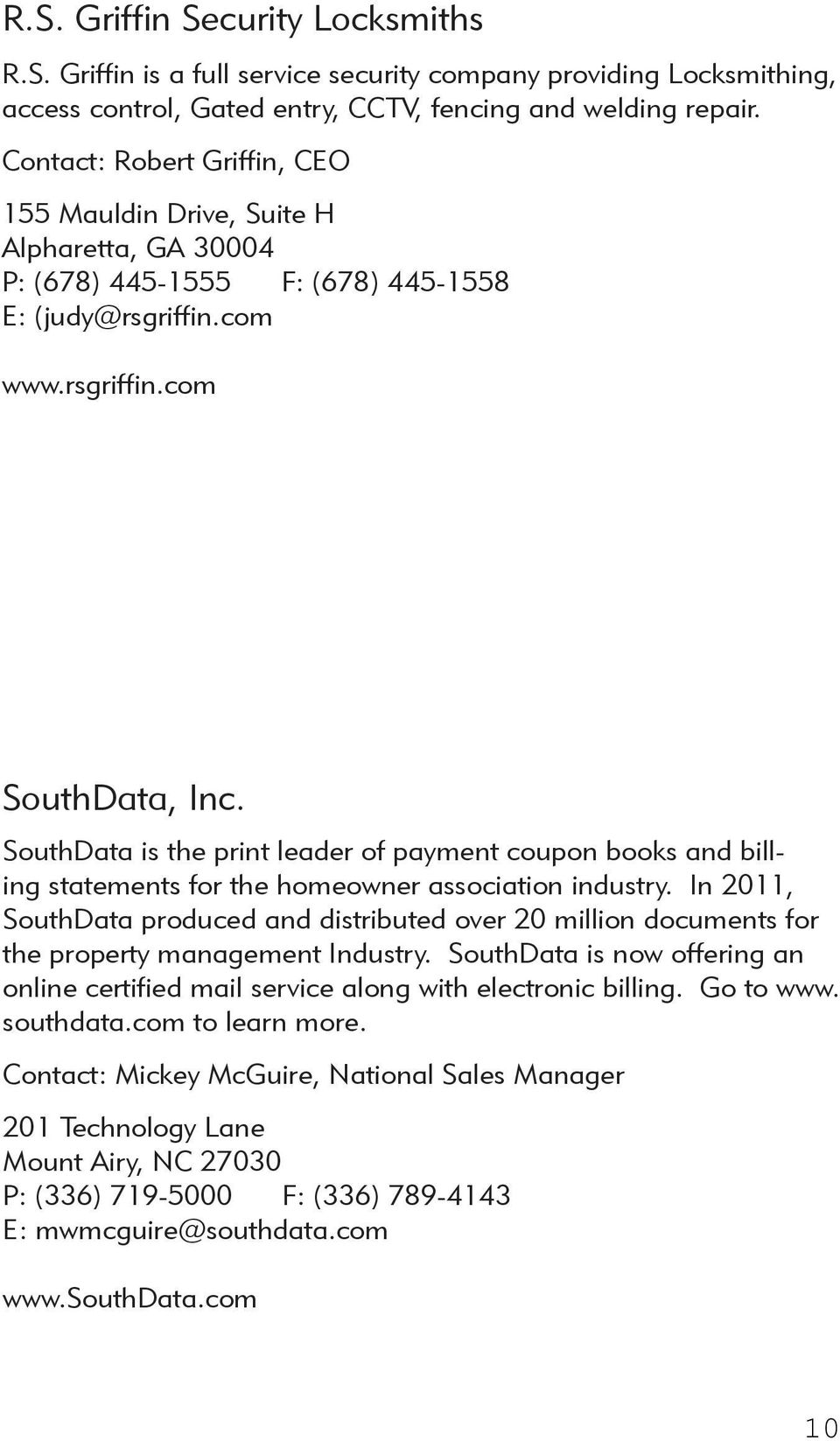 SouthData is the print leader of payment coupon books and billing statements for the homeowner association industry.