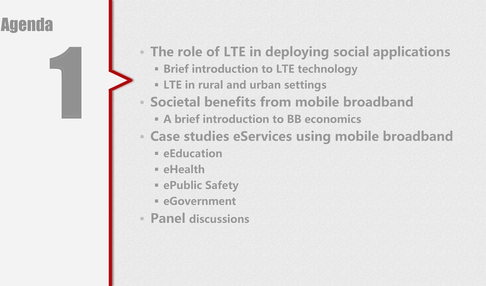 mobile broadband A brief introduction to BB economics Case studies eservices