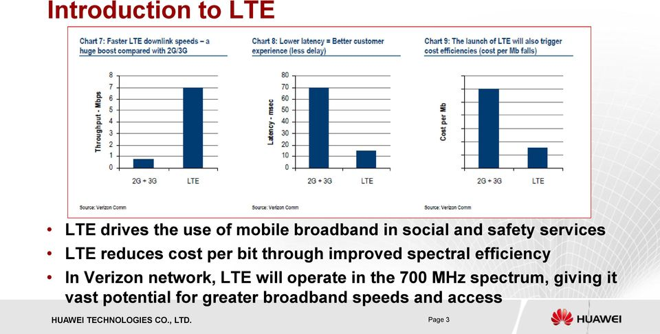 efficiency In Verizon network, LTE will operate in the 700 MHz