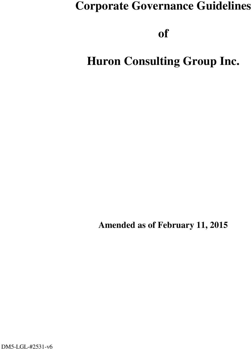 Consulting Group Inc.