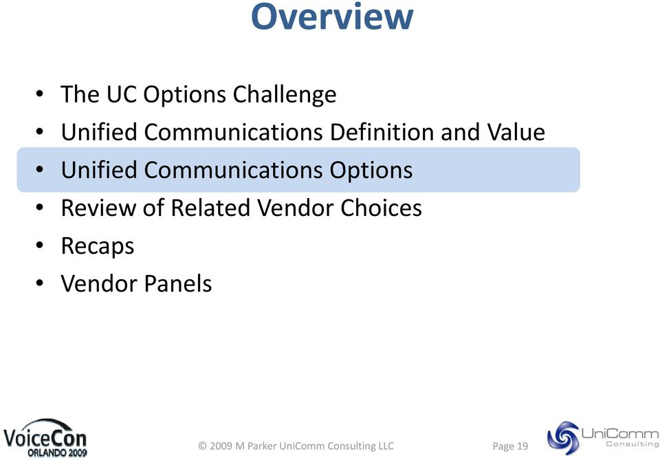 Unified Communications Options Review of