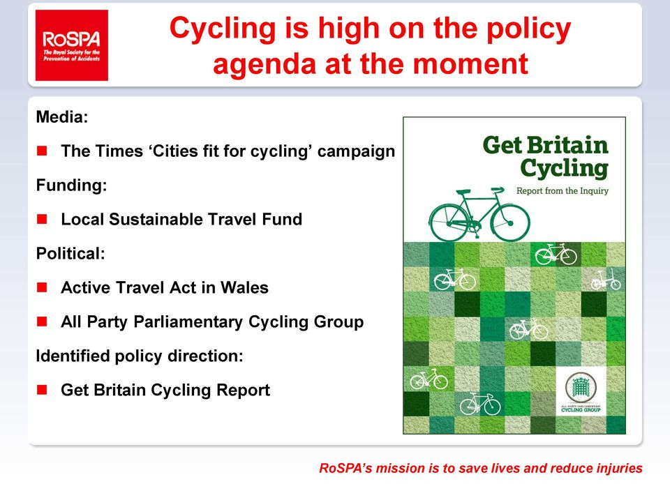 Fund Political: Active Travel Act in Wales All Party Parliamentary