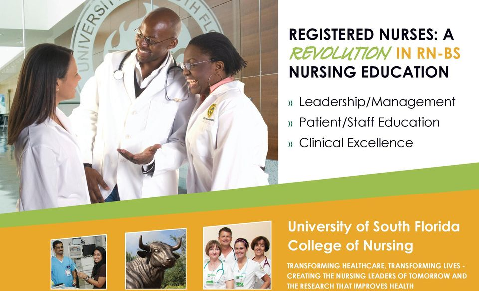 University of South Florida College of Nursing TRANSFORMING HEALTHCARE,