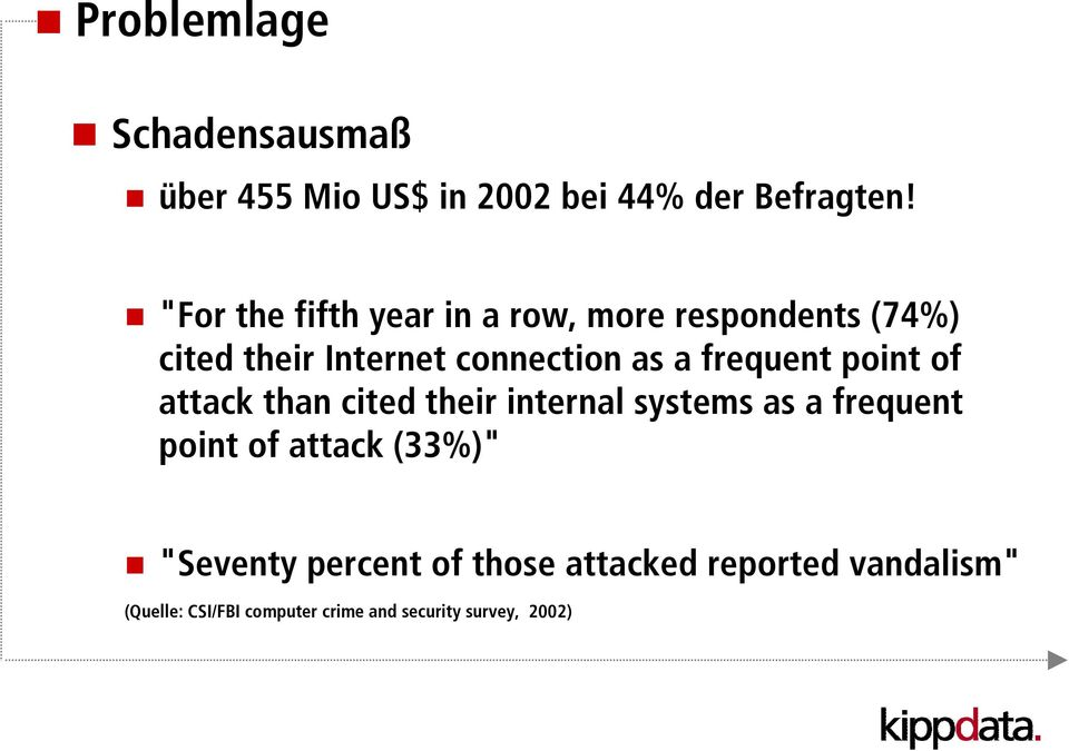 frequent point of attack than cited their internal systems as a frequent point of attack