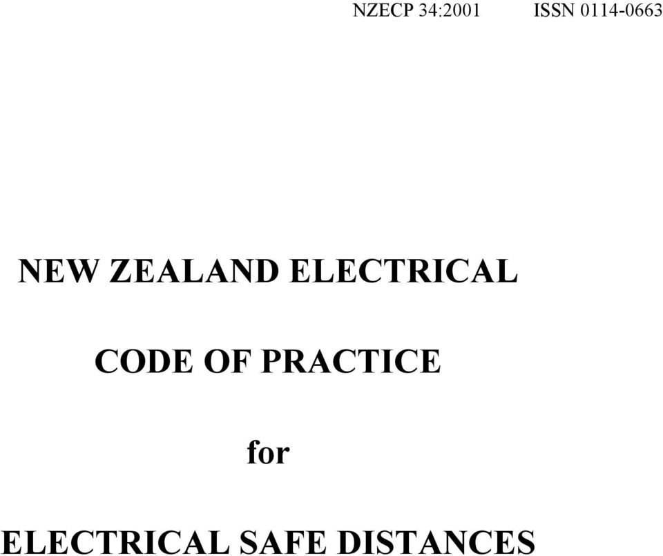 ELECTRICAL CODE OF