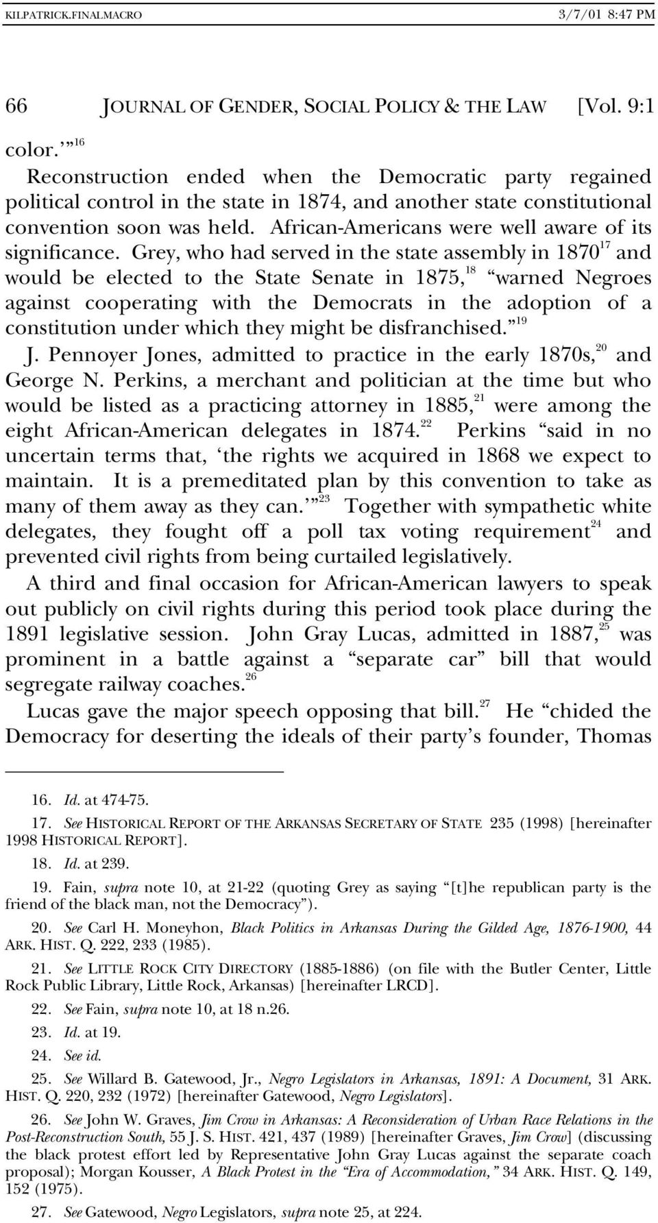 African-Americans were well aware of its significance.