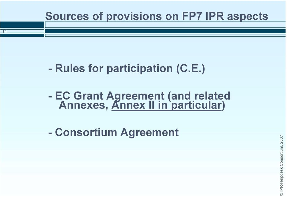 ) - EC Grant Agreement (and related
