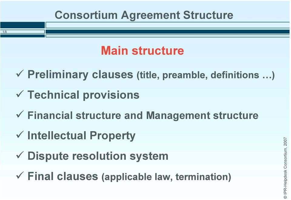 Financial structure and Management structure # Intellectual