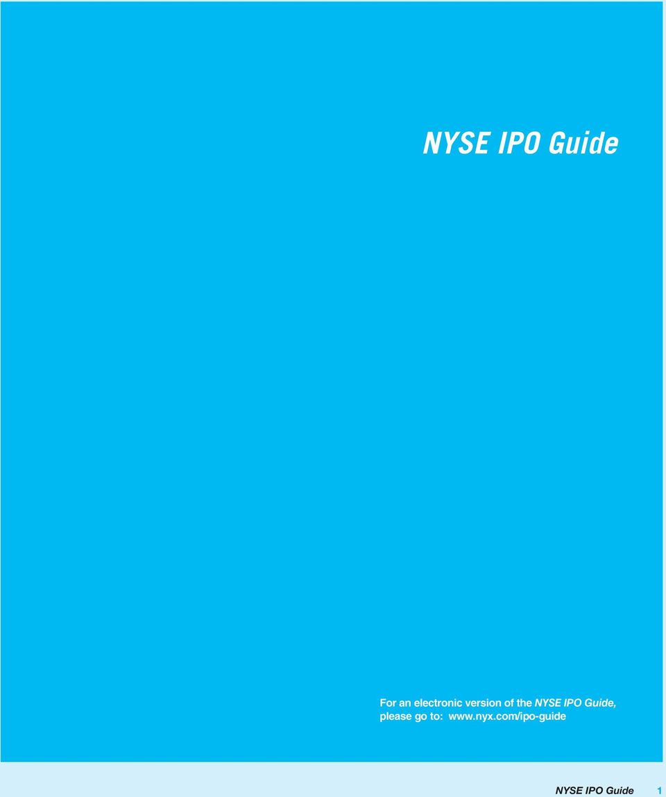 NYSE IPO Guide, please go