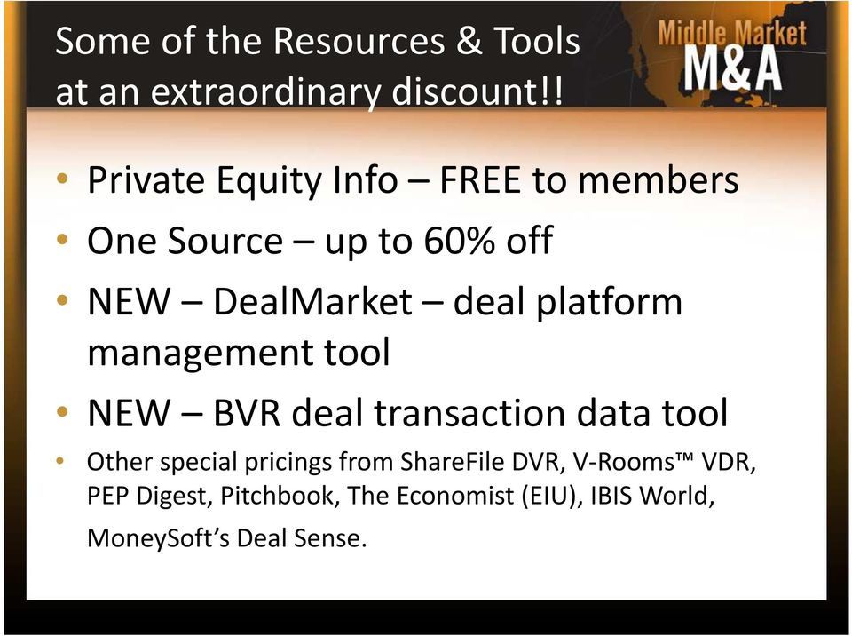 platform management tool NEW BVR deal transaction data tool Other special pricings