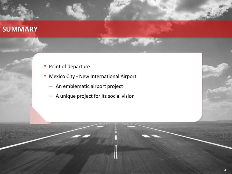 An emblematic airport project A