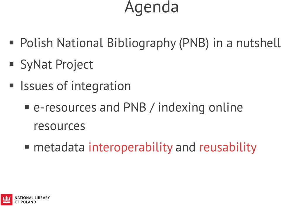 integration e-resources and PNB / indexing