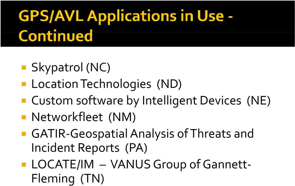 (NM) GATIR Geospatial Analysis of Threats and