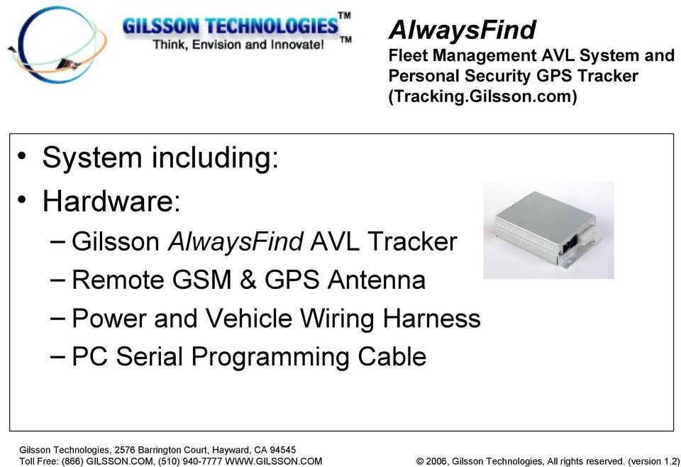 GPS Antenna Power and Vehicle