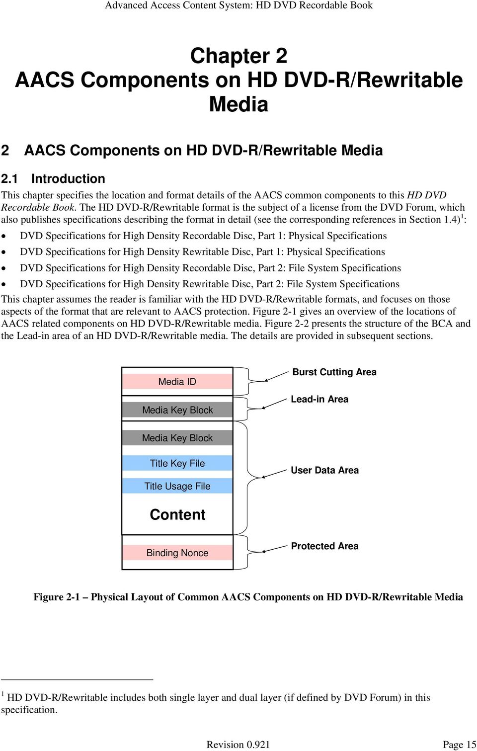 The HD DVD-R/Rewritable format is the subject of a license from the DVD Forum, which also publishes specifications describing the format in detail (see the corresponding references in Section 1.