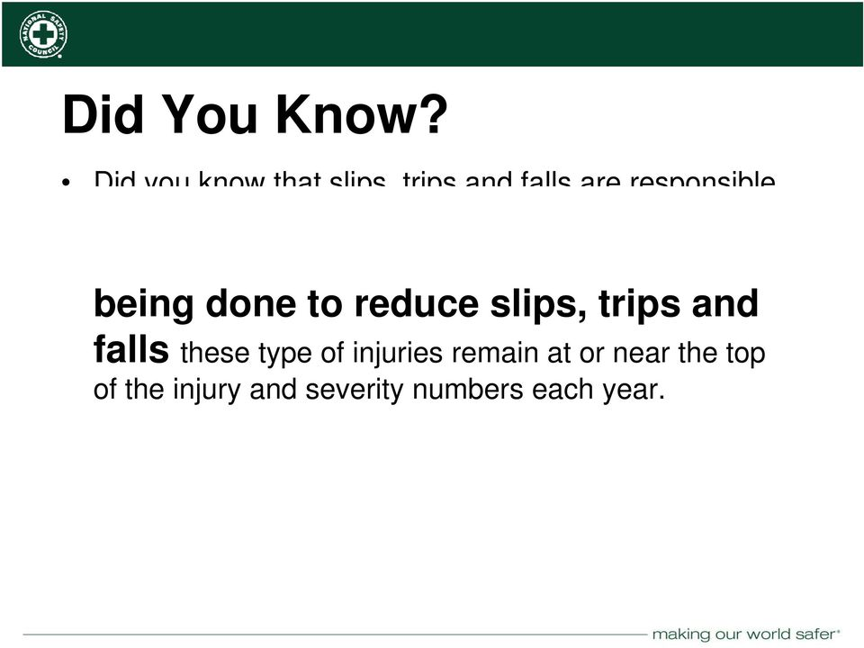 falls are responsible for hundreds of workplace fatalities and thousands of recordable