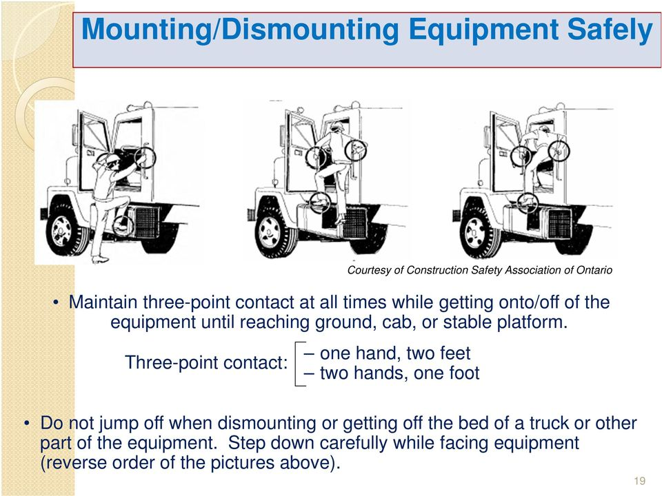 Three-point contact: one hand, two feet two hands, one foot Do not jump off when dismounting or getting off the bed