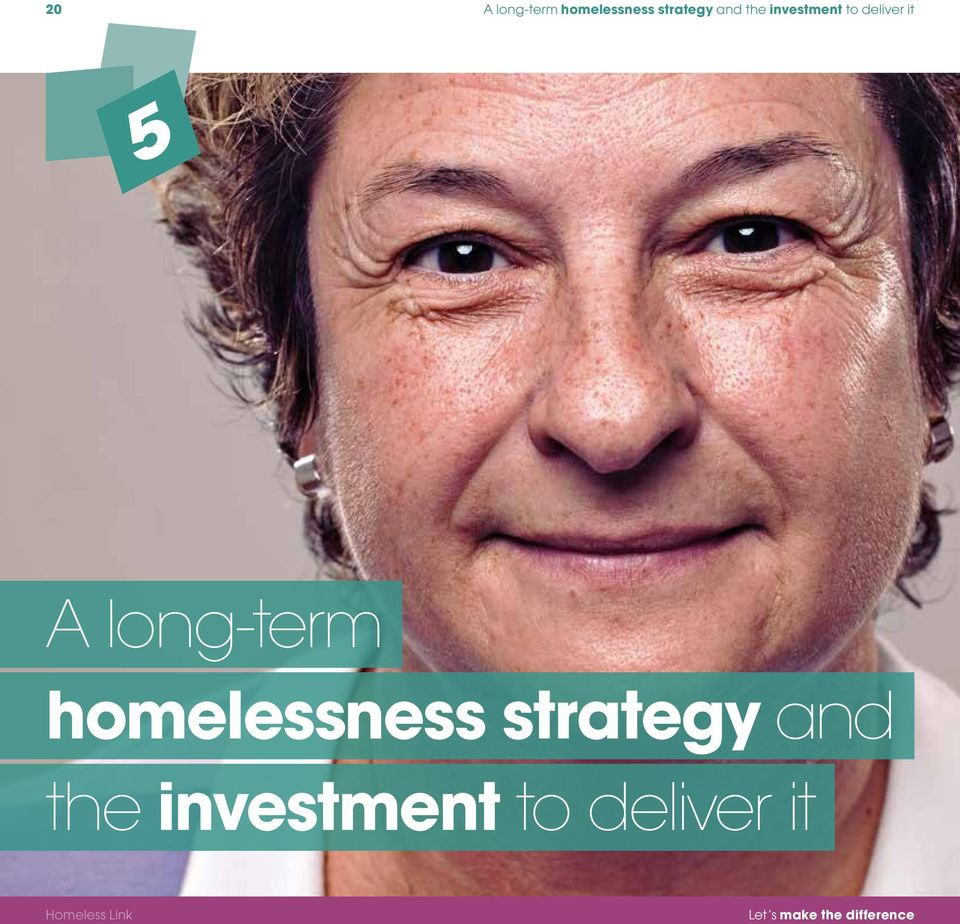 long-term homelessness strategy and the