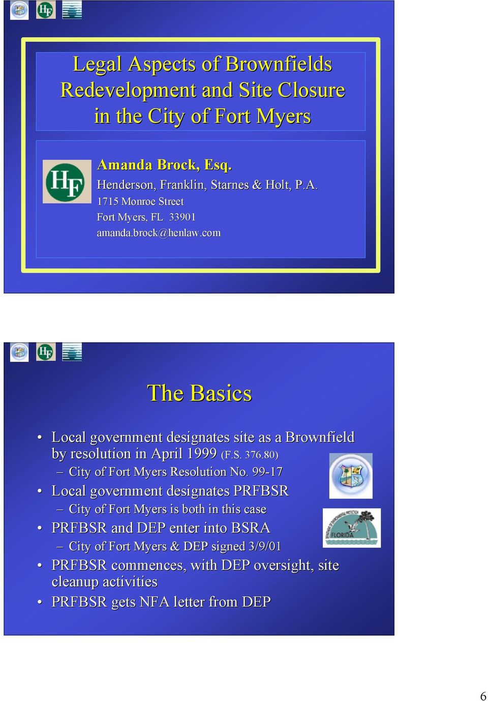 80) City of Fort Myers Resolution No.