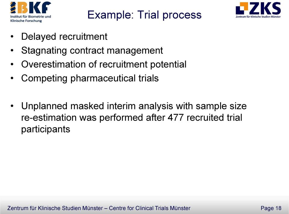 masked interim analysis with sample size re-estimation was performed after 477