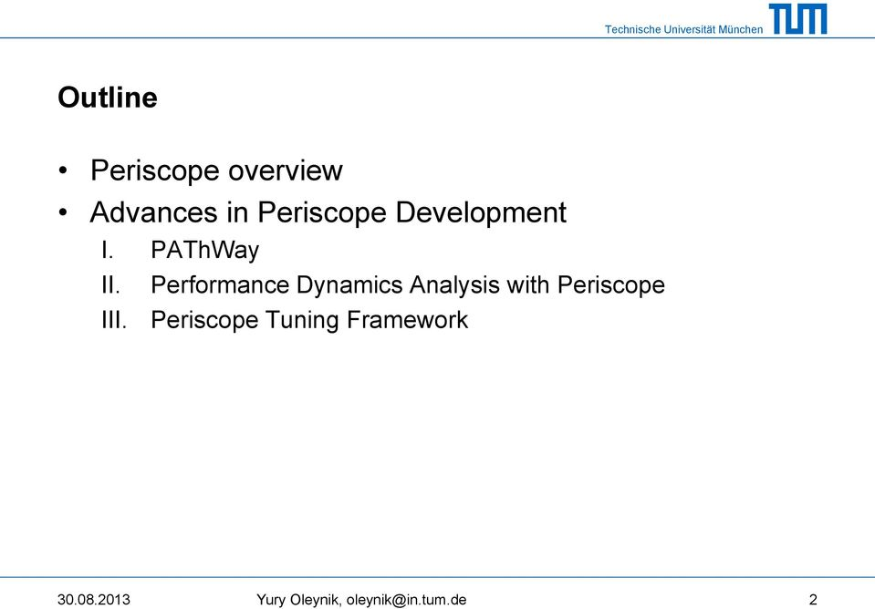 Performance Dynamics Analysis with Periscope III.