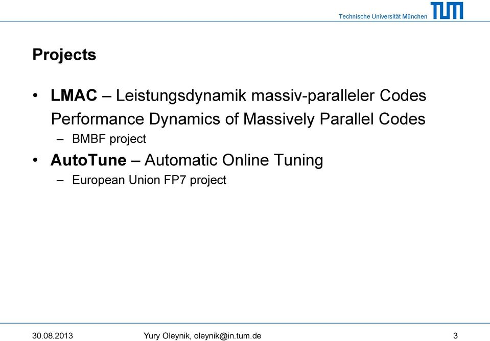 project AutoTune Automatic Online Tuning European Union