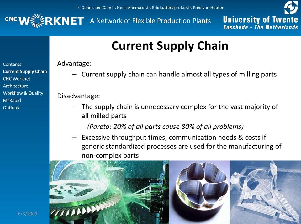 all parts cause 80% of all problems) Excessive throughput times, communication needs & costs