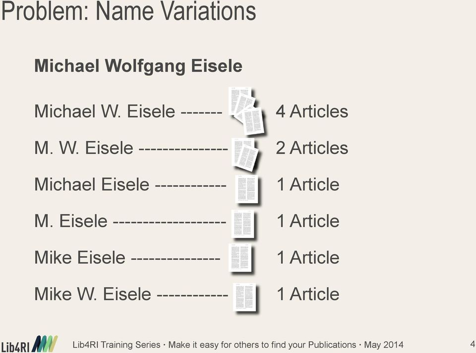 Eisele --------------- 2 Articles Michael Eisele ------------ 1