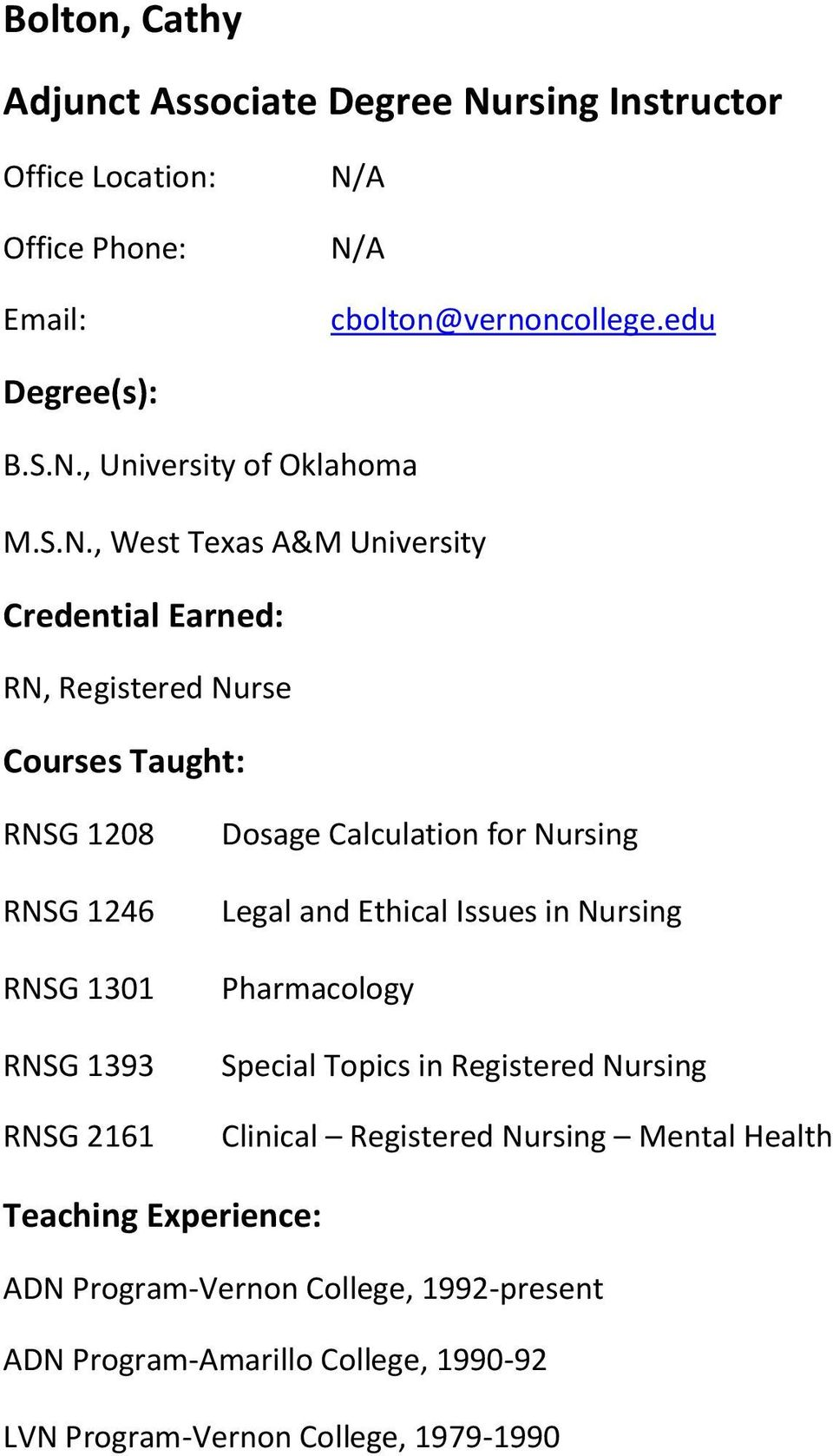 Calculation for Nursing Legal and Ethical Issues in Nursing Pharmacology Special Topics in Registered Nursing Clinical Registered
