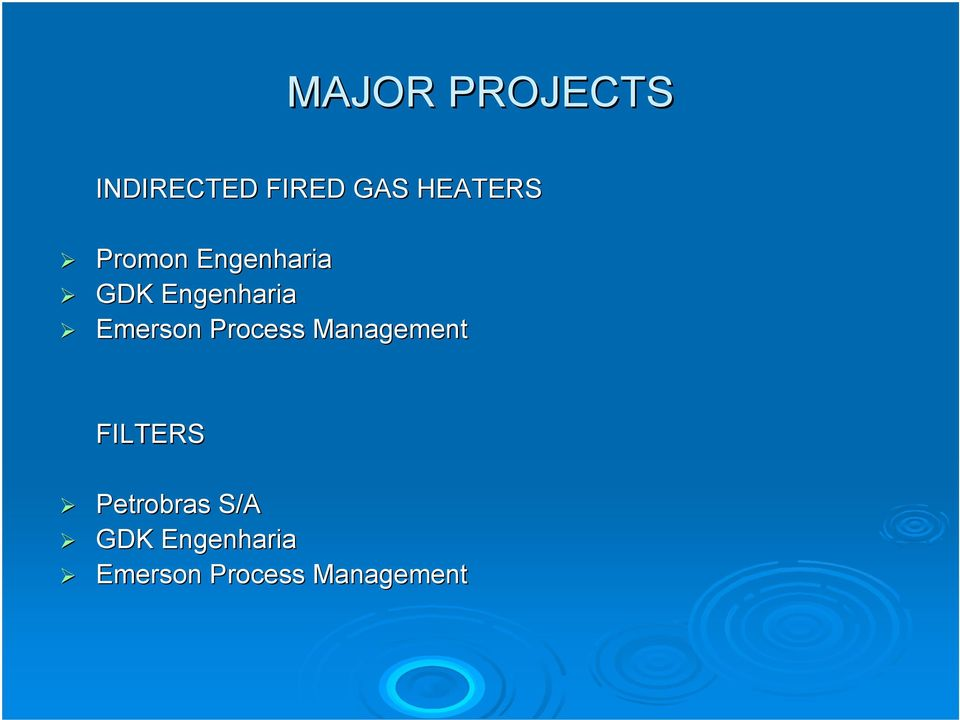 Emerson Process Management FILTERS