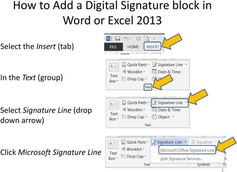 Select Signature Line (drop down
