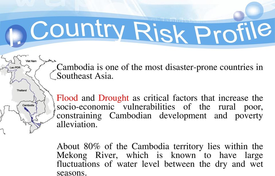 rural poor, constraining Cambodian development and poverty alleviation.