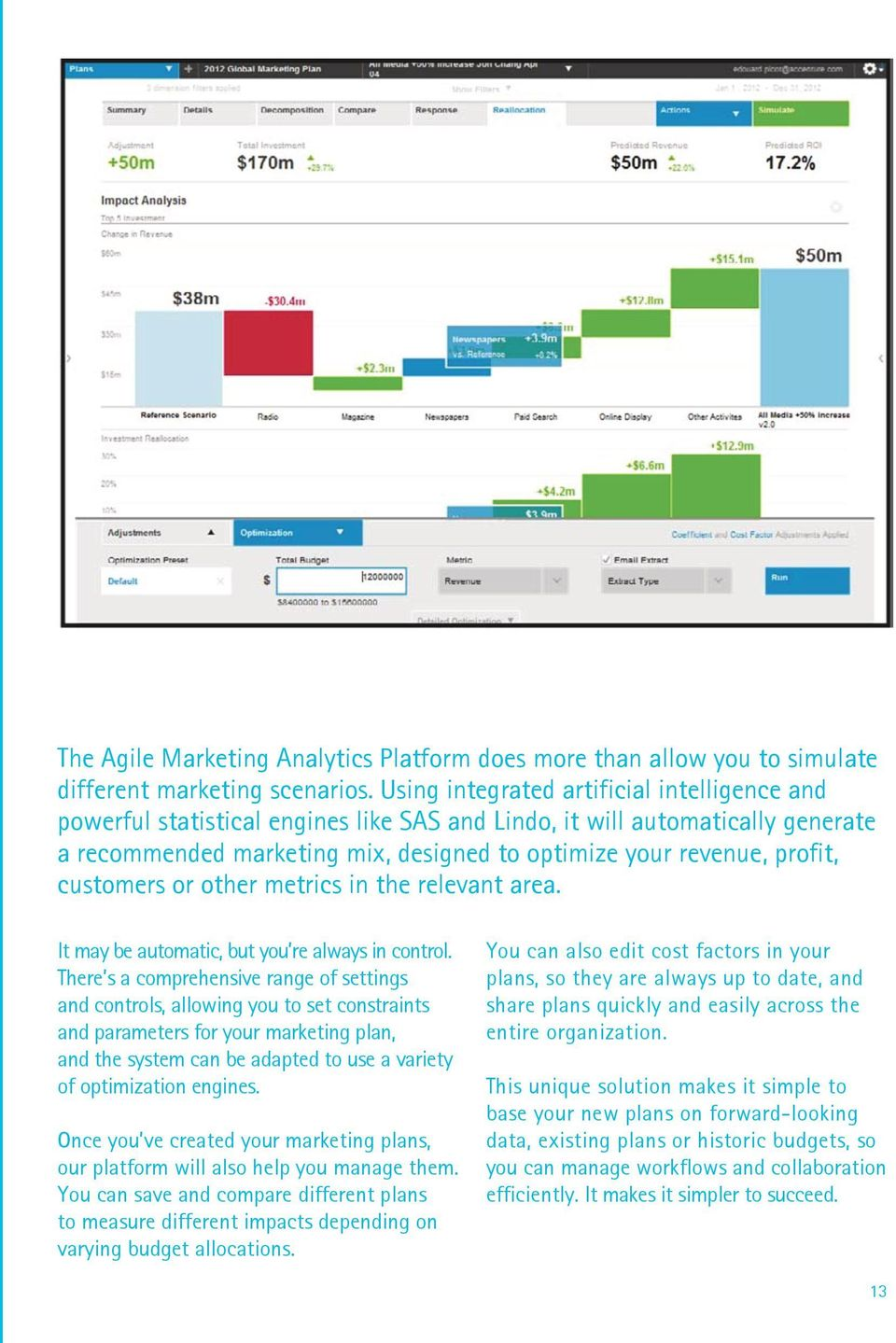 customers or other metrics in the relevant area. It may be automatic, but you re always in control.