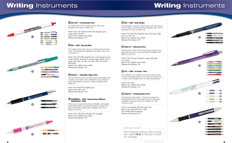 writing. Available with.7mm roller ball in blue or black ink.
